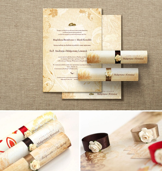Wzory zaproszeń ślubnych