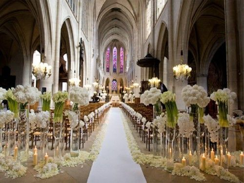 Ślub - dekoracje kościoła 10
