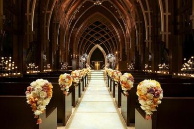 Ślub - dekoracje kościoła 11