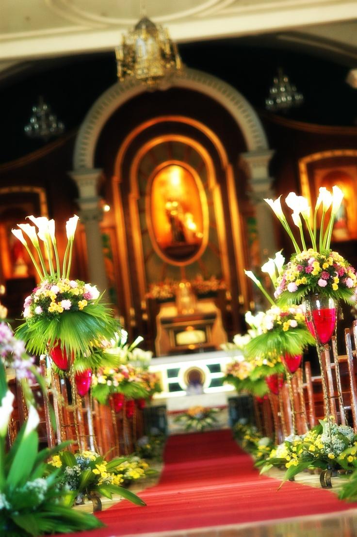 Ślub - dekoracje kościoła 12