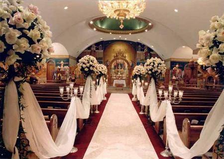Ślub - dekoracje kościoła 9