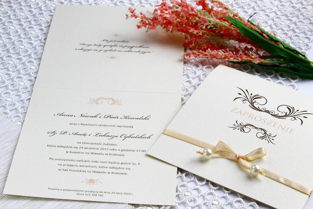 Zaproszenia ślubne, a charakter przyjęcia weselnego 1