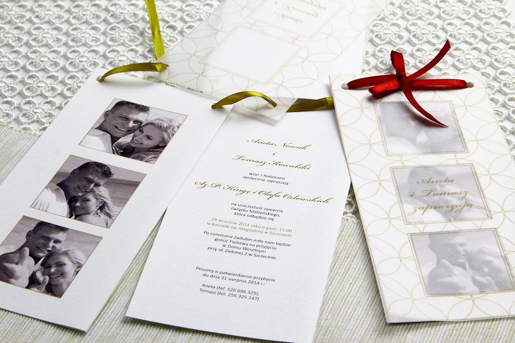Zaproszenia ślubne, a charakter przyjęcia weselnego 2