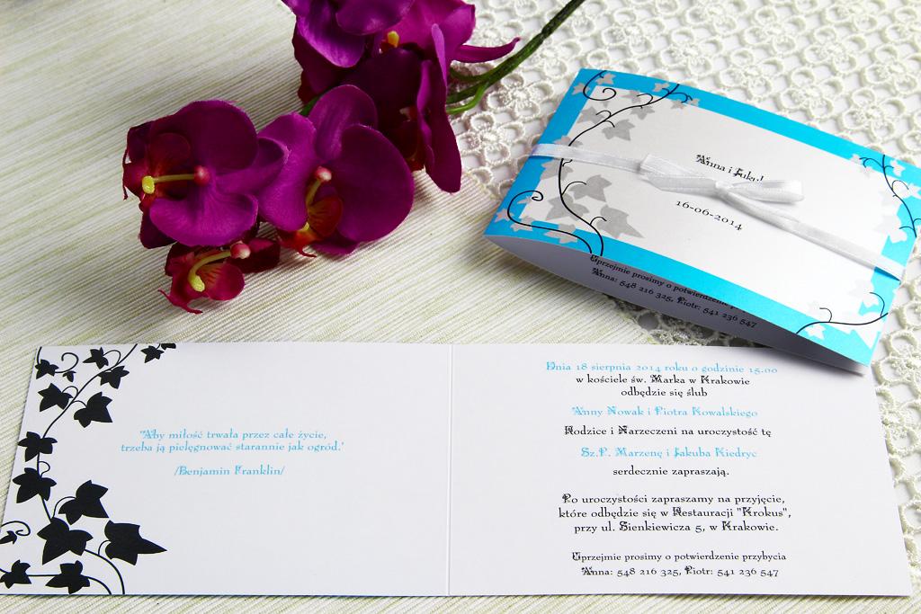 Zaproszenia ślubne, a charakter przyjęcia weselnego 3