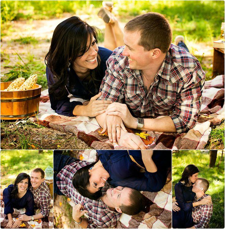 Sesja narzeczeńska na pikniku