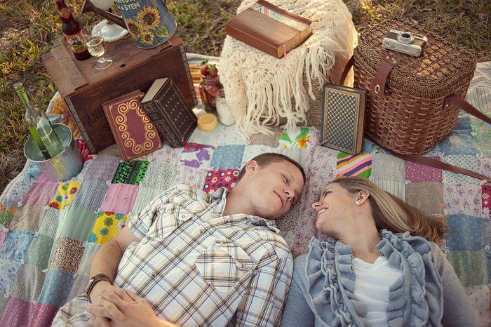 Sesja narzeczeńska na pikniku 4