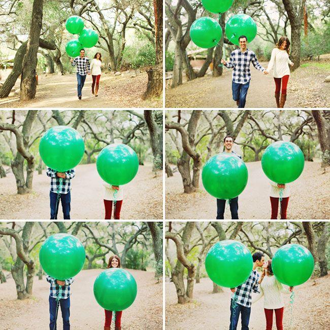 Sesja narzeczeńska z balonami 7