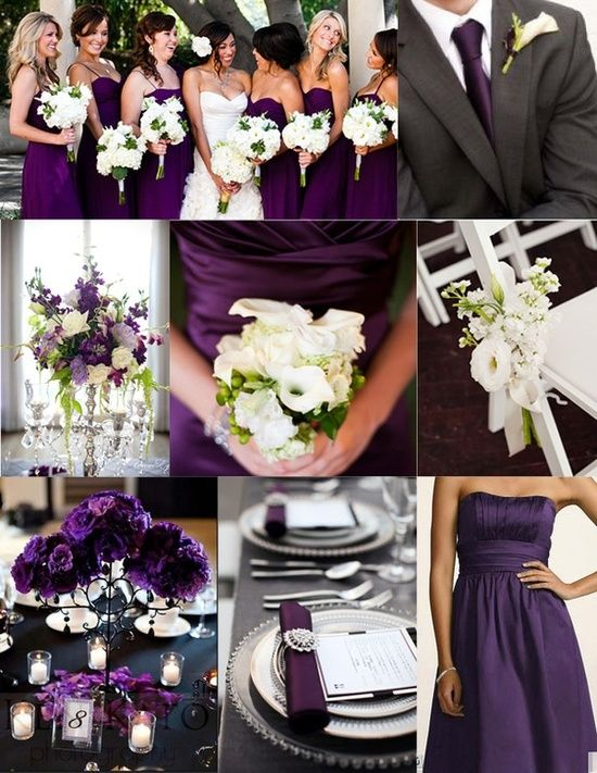 Fiolet kolorem ślubu i wesela 2014