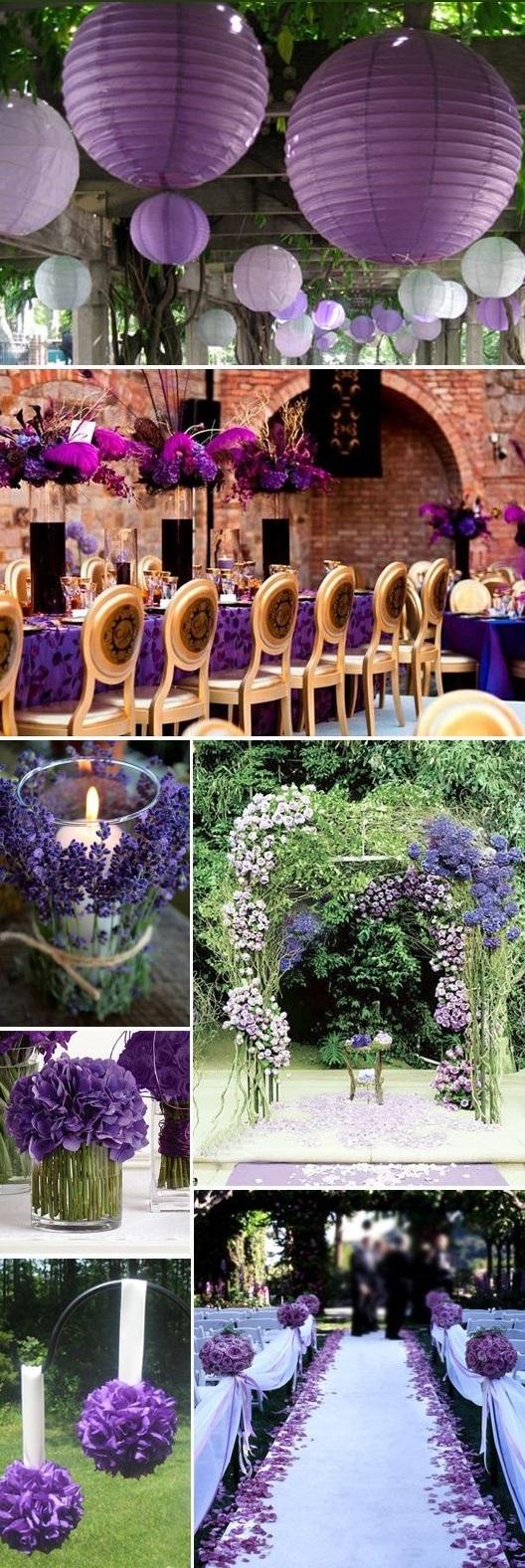 Fiolet kolorem ślubu i wesela 2014 3