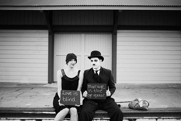 Sesja narzeczeńska z Charlie Chaplinem