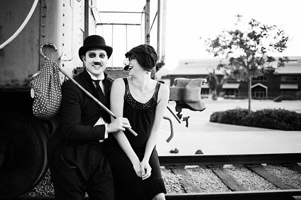 Sesja narzeczeńska z Charlie Chaplinem 3