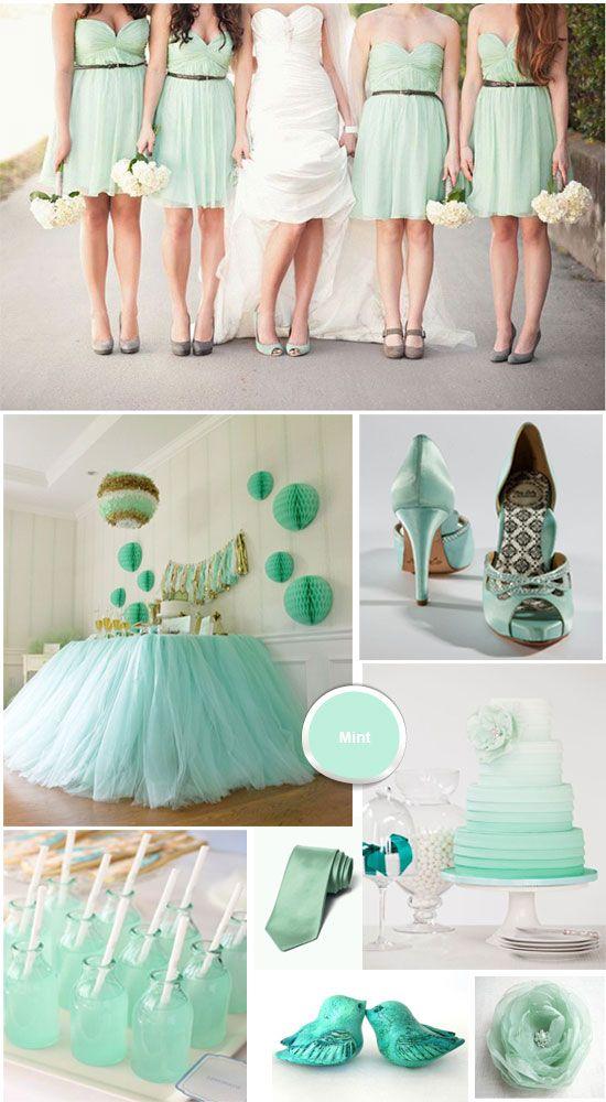 Mięta - kolorem ślubu i wesela 5