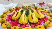 Owocowe dekoracje ślubne.