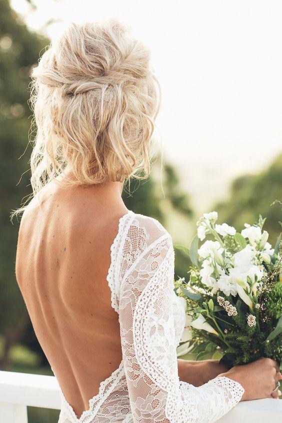 krótkie fryzury ślubne