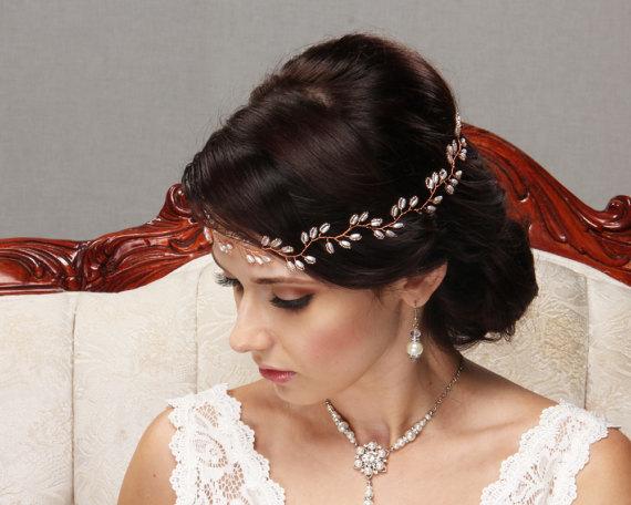 Opaska ślubna do włosów