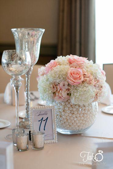 dekoracje z pereł na wesele